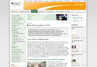 Screenshot: Internetangebot des BMBF zum Berufsbildungsbericht